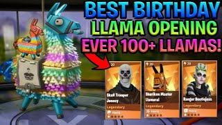 best birthday llama opening ever 100 l - fortnite save the world cheapest