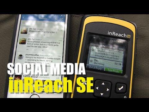 Garmin InReach SE - Social Media Messaging (Twitter)