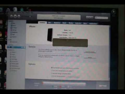 UPDATE IPHONE 3.0.1 Firmware and Jailbreak/Unlock with Redsnow 0.8