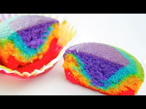 RAINBOW CUPCAKES - VIDEO RECIPE