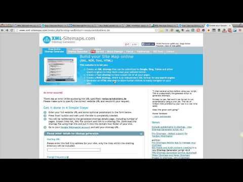 XML Sitemaps - Einfach eine HTML Sitemap erstellen mit XML-Sitemaps.com