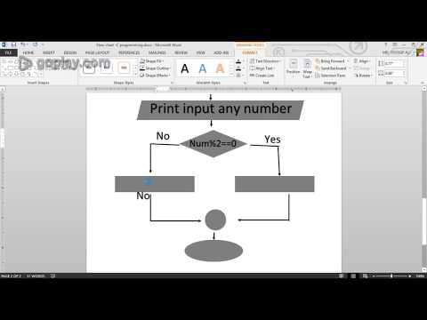 How to draw a flow chart in MS Office 2013