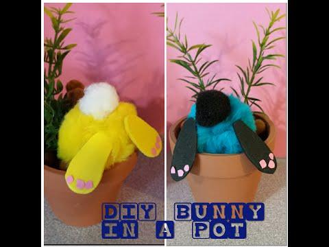 DIY Curious Little Bunny Pots