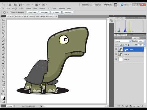 Create gif animation using puppet warp in Photoshop CS5