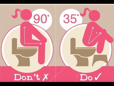 Toilet Squat Stool :  Treat Constipation, Hemorrhoids With Toilet Squat Stool
