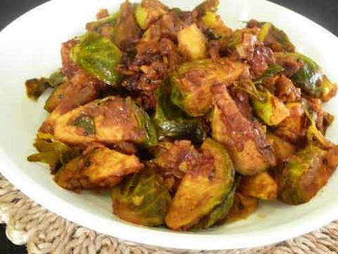 Brussels Sprout Subzi - Indian Vegetarian Recipe