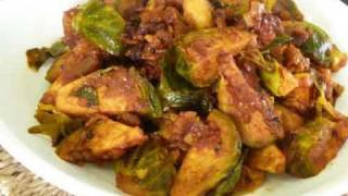 Brussels Sprout Subzi Indian Vegetarian Recipe