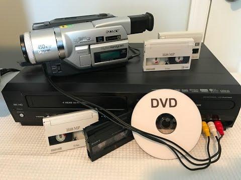 Video Handy Cam tape cassette transfer to DVD using combo recorder