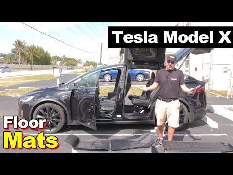 2017 Tesla Model X All Weather Washable Floor Mats(Tesla Branded Made In The USA)