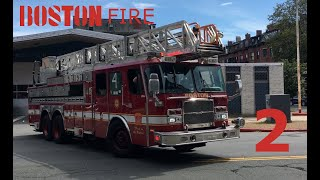 [WIKID RESPONSE COMPILATION 2] BOSTON FIRE DEPARTMENT RESPONDING WITH LIGHTS SIRENS AND AIR HORNS