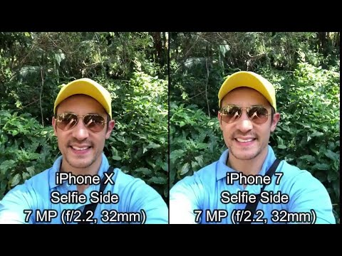 iPhone X vs iPhone 7: Video Camera & Photo Comparison Selfie Side Review