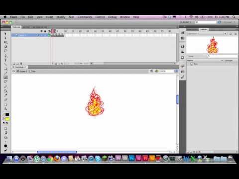 Create a torch fire loop effect under 8 minutes in Adobe Flash
