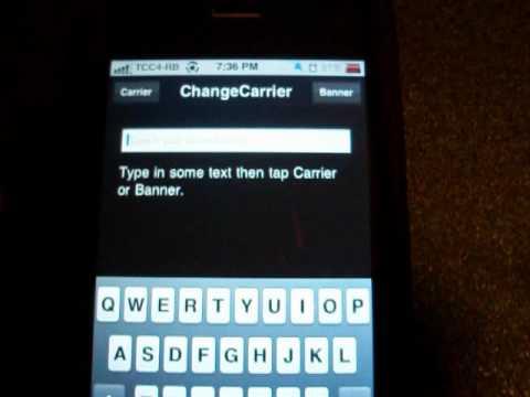 Changing Carrier & Banner: Jailbroken Device!