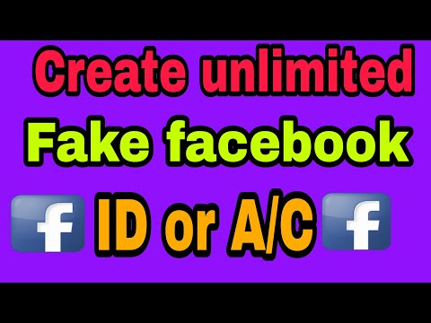 How to create fake Facebook id.