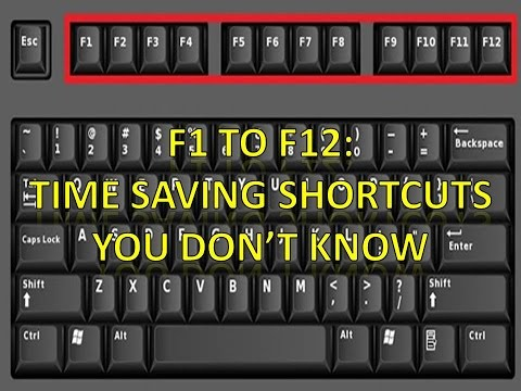 Uses Of Function Keys F1 to F12: Time Saving Shortcuts