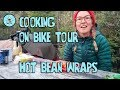 Cooking for bike tour| Hot bean wraps