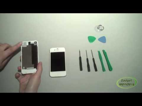 How to Replace Cracked iPhone 4S Back Cover Tutorial | GadgetMenders.com