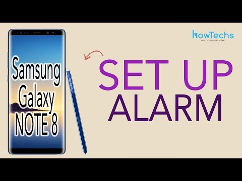 Samsung Galaxy Note 8 - How to Set/Change/Delete Alarm