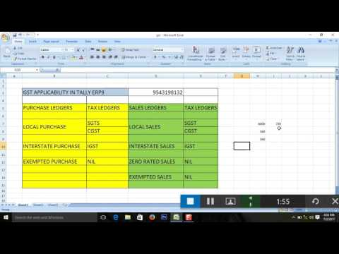 How to enter gst sales and purchase in tally erp9 relese 6