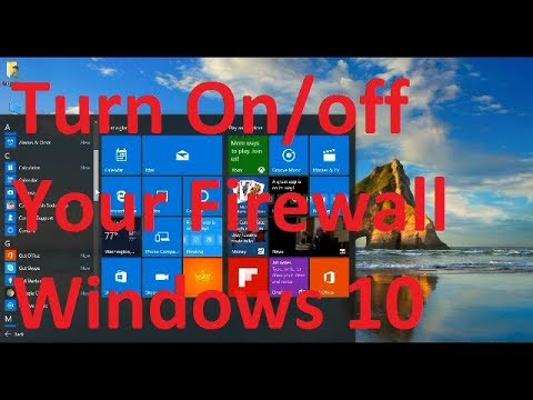 How to On or Off Firewall on Windows 10 Latest Update !!!