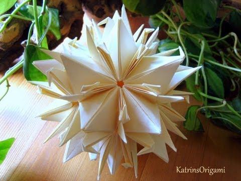 Origami ♥ peace Crane ♥ Kusudama