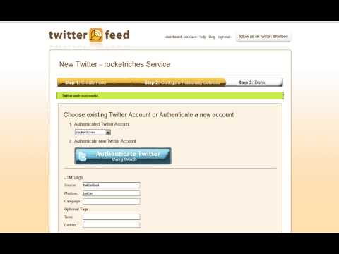 Automatic Twitter updates from an RSS Feed