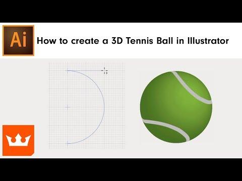 How to create a 3D Tennis Ball in Adobe Illustrator | Sebastian Bleak