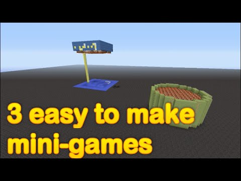 Minecraft - 3 easy to make mini games (part 1)