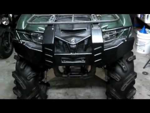 diy Yamaha grizzly 700 bumper brush guard 450 bumper installation