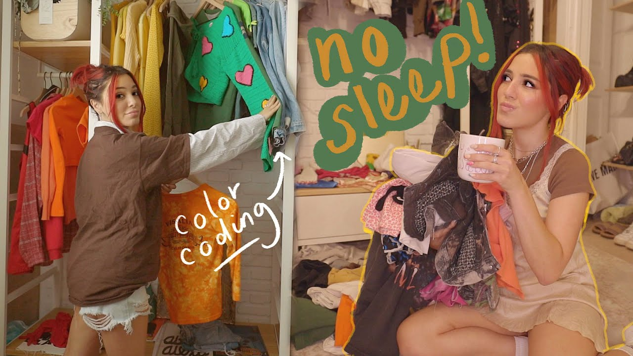 PULLING AN ALL-NIGHTER ~cleaning out my closet~