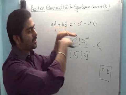 5. Chemistry crash course-Reaction Quotient & Equilibrium constant