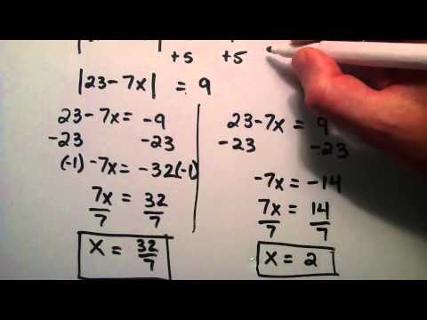 How to Solve an Absolute Value Equation , Example 2 , Intermediate Algebra , Lesson 49