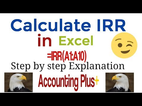 Calculate IRR in Excel 2018