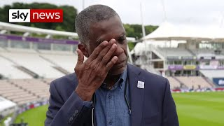 West Indies legend Michael Holding breaks down discussing racism in the UK