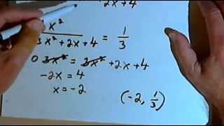 Determine Whether A Graph Intersects The Horizontal Asymptote 143 424c