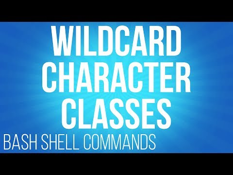 BASH Shell commands wildcard character classes ( commands for linux )