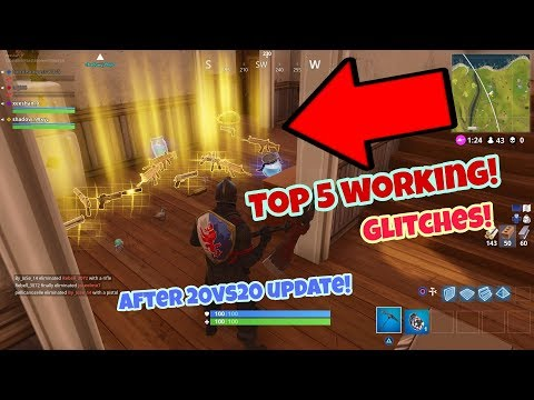 Fortnite Battle Royale Glitches (Top 5 New) After 20 vs 20 update PS4/Xbox one 2018