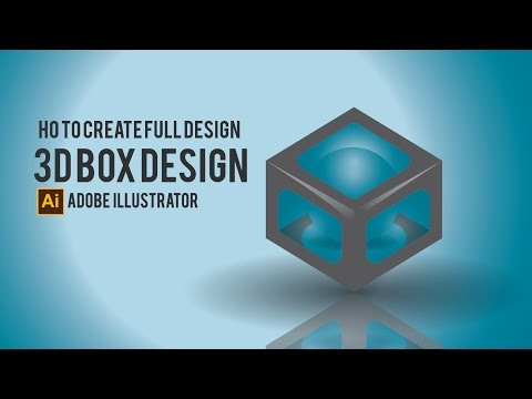 How to make 3D BOX - Illustrator tutorial