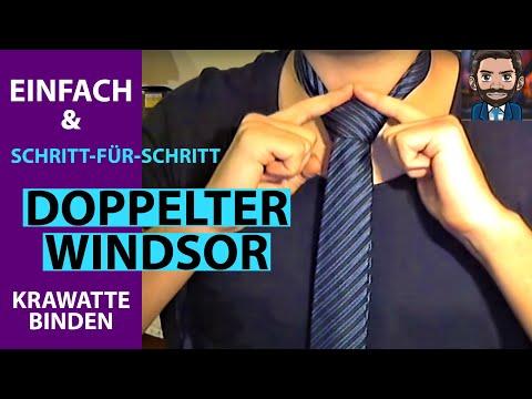 Doppelter Windsor - Krawattenknoten einfach gemacht