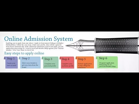 How fill form online admission in KPK college's