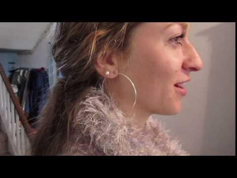 Large Sterling Silver Endless Hoop Earrings with 14K Pearl Studs in 6mm