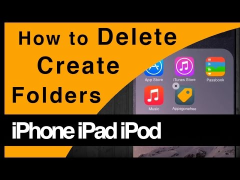 How to delete/create app Folders iPhone iPad iPod