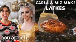Miz Cracker and Carla Make Chanukah Latkes | From the Test Kitchen | Bon Appétit
