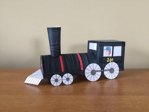 3D Paper Train Part 1: Locomotive
