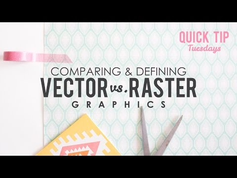 Comparing and Defining Vector vs Raster in Graphic Design