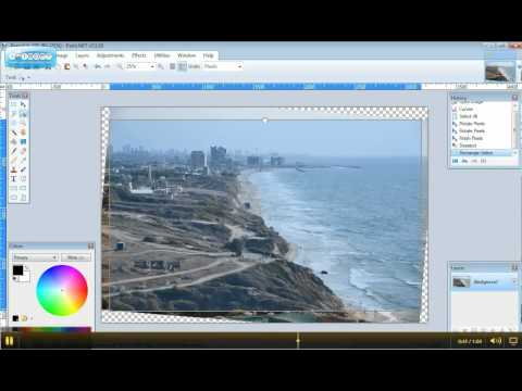 How to straighten and crop an image in Paint.Net