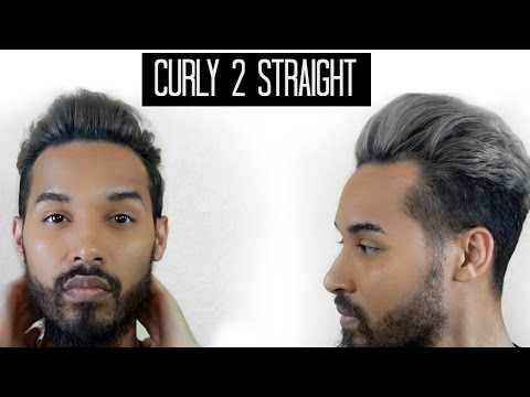 Curly to Straight | Men's Hair Tutorial