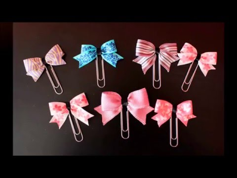 DIY How to Make Paper Clip Bows for your Planner