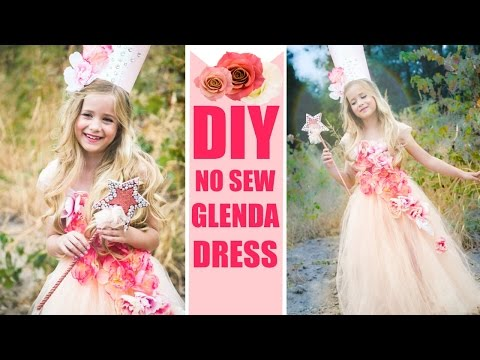 DIY Glenda NO SEW Costume Easy Good witch Dress