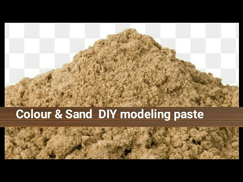 DIY Texture paste with Sand & Acrylic paint